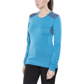 Norrøna Falketind Super Wool T-shirt Femme, blue moon